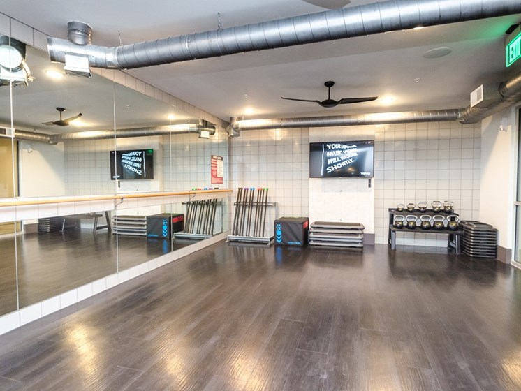 Cue Luxury Living fitness studio