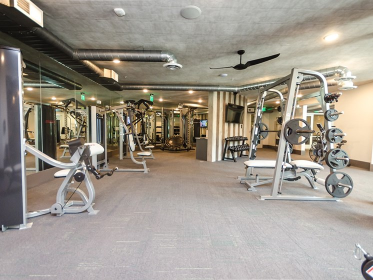 Cue Luxury Living fitness center