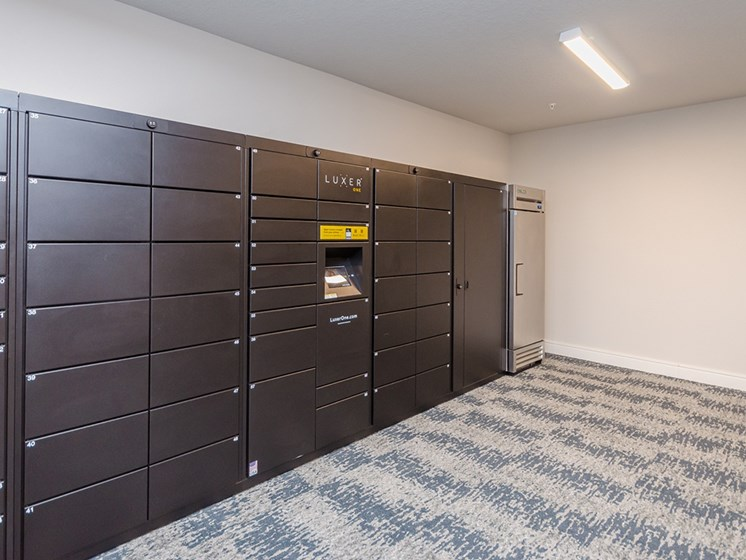 Cue Luxury Living package lockers