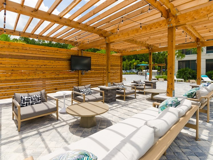 Cue Luxury Living outdoor seating