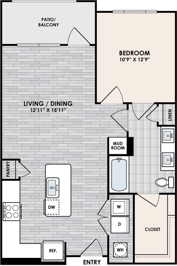 Eastshore A1E floorplan