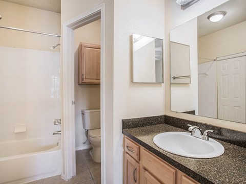 Bathroom With Bathtub at Green Tree Place, Jacksonville