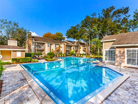Sparkling Pool at Green Tree Place, Florida