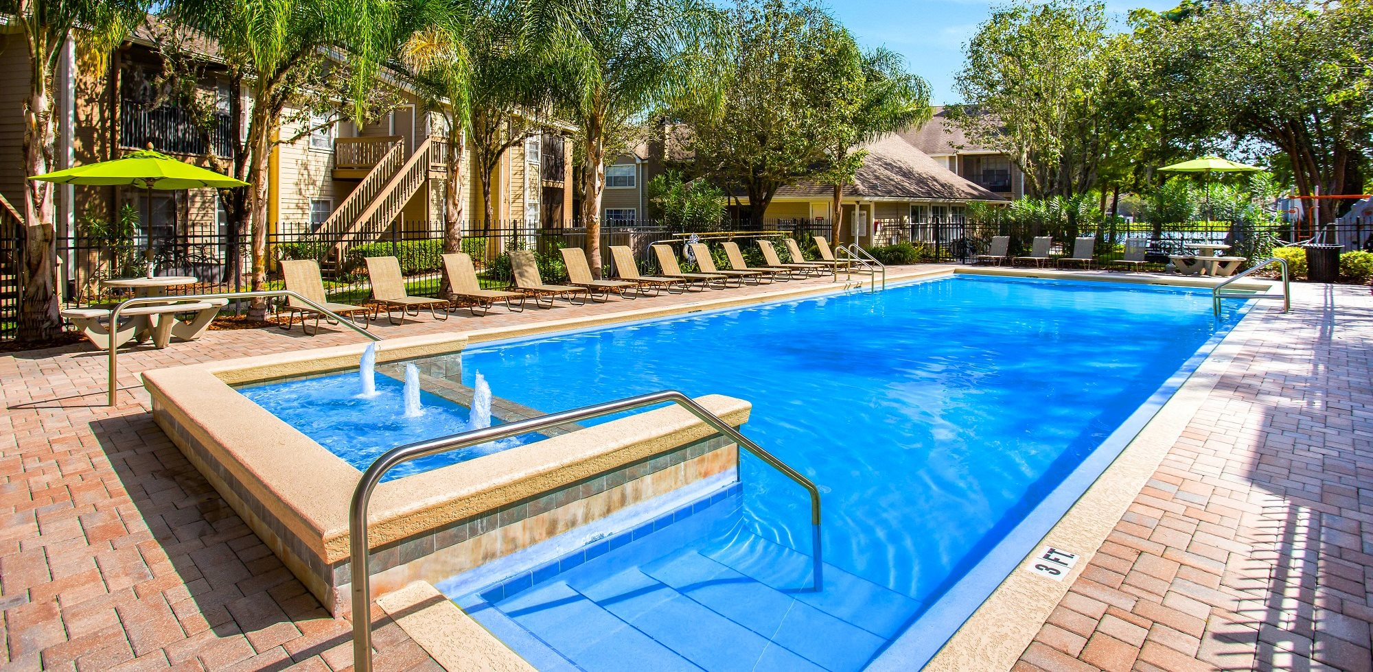 Swimming Pool with Fountain at Green Tree Place, Jacksonville, 32256