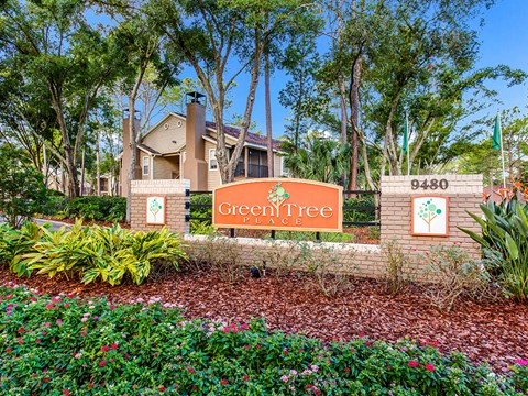 Property Sign at Green Tree Place, Jacksonville