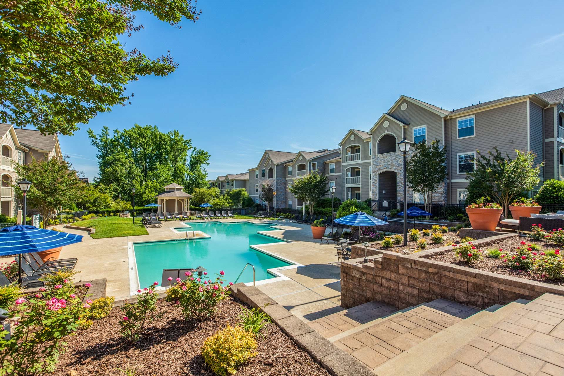 Outdoor Swimming Pool at Haven at Patterson Place, North Carolina, 27707