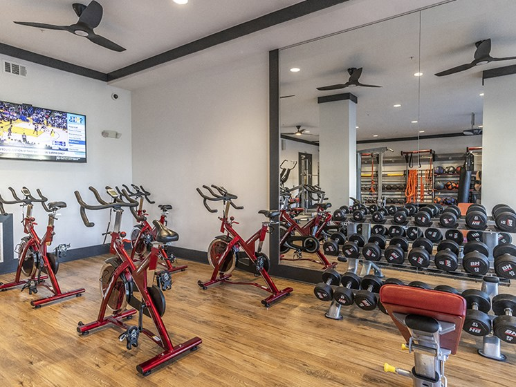 24-Hour Fitness Center With Free Weights at Integra Sunrise Parc, Kissimmee, Florida