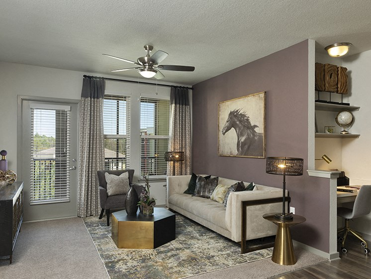 Ceiling Fan In Living Room at Integra Sunrise Parc, Kissimmee, FL, 34746