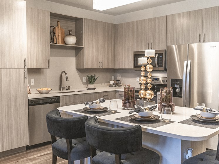 Fully Equipped Kitchen With Modern Appliances at Integra Sunrise Parc, Kissimmee, Florida