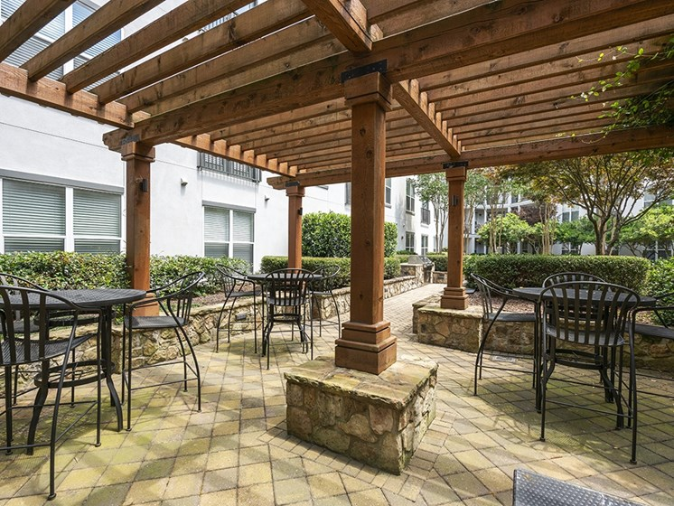 Park & Market courtyard picnic tables