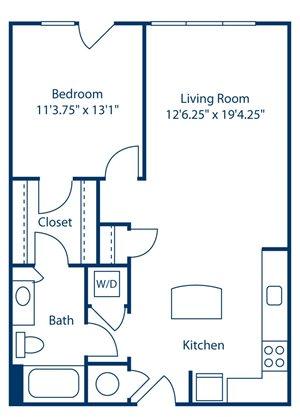 Park and Market A1D floor plan