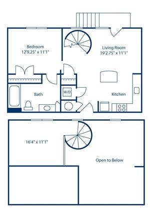 Park and Market A1E floor plan