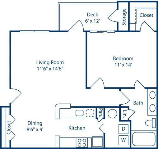 OneBedroom774sf at Bell Brookfield, Greenville, South Carolina