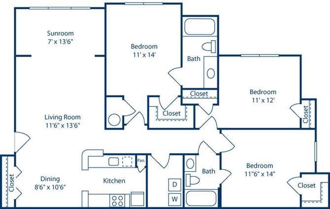ThreeBedroomwithSunroom1351sf at Bell Brookfield, South Carolina, 29607