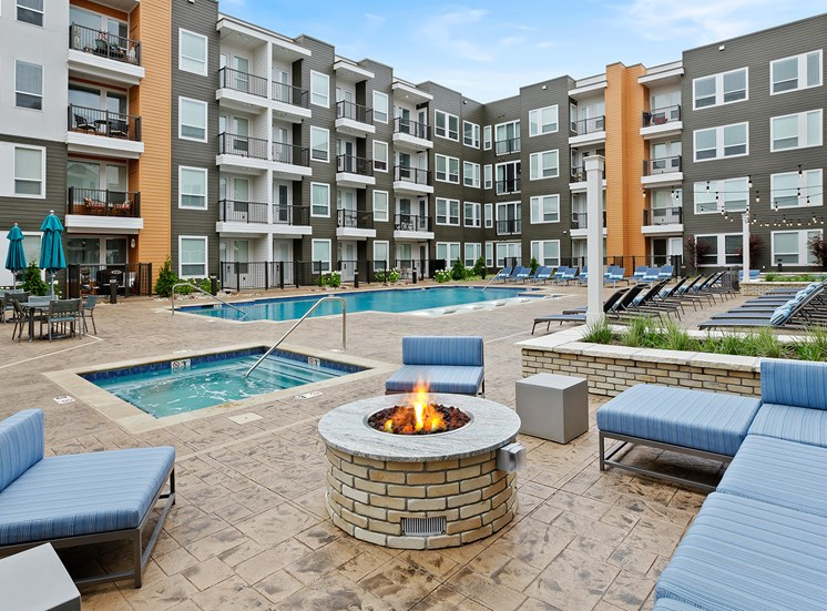 Element 25 apartments fire pit and spa
