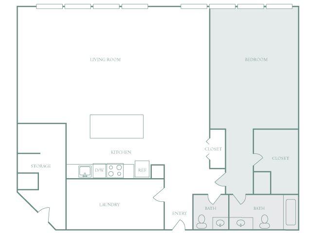 Harbor Hill A1 13 bedroom 2D floor plan