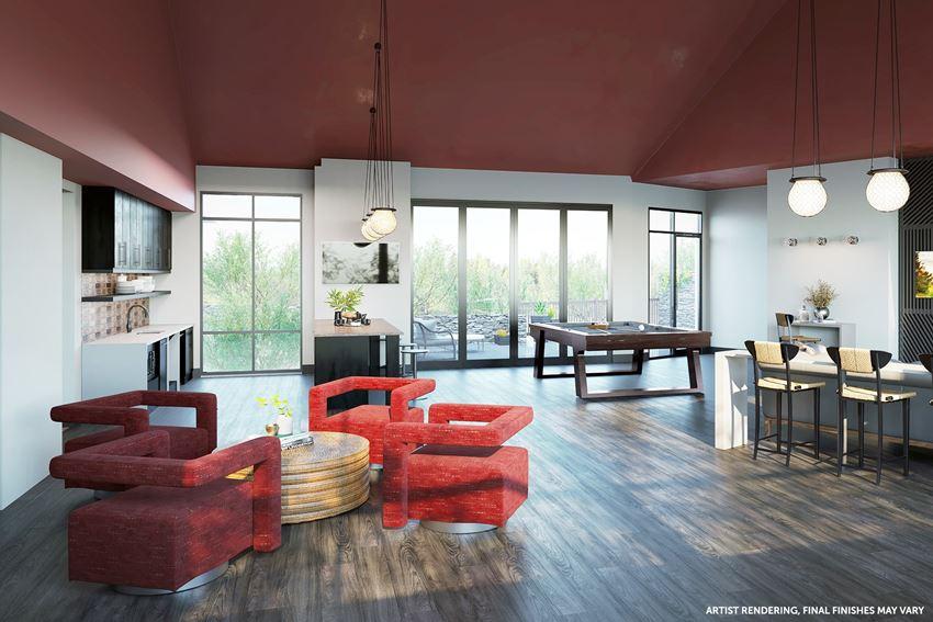 Arazo clubhouse TV room