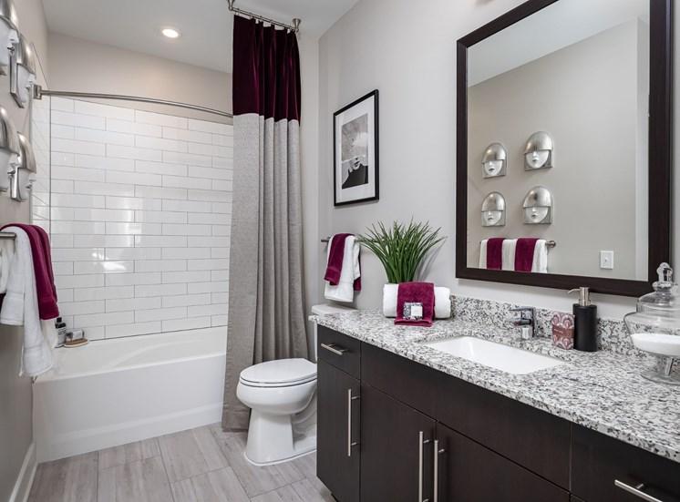 Bathroom With Bathtub at Cameron Square, Alexandria, VA, 22304