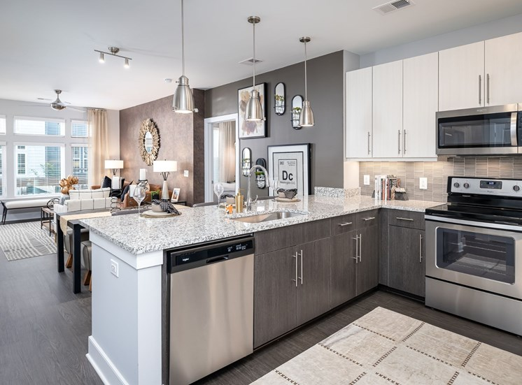 Fully Equipped Kitchen With Modern Appliances at Cameron Square, Virginia, 22304