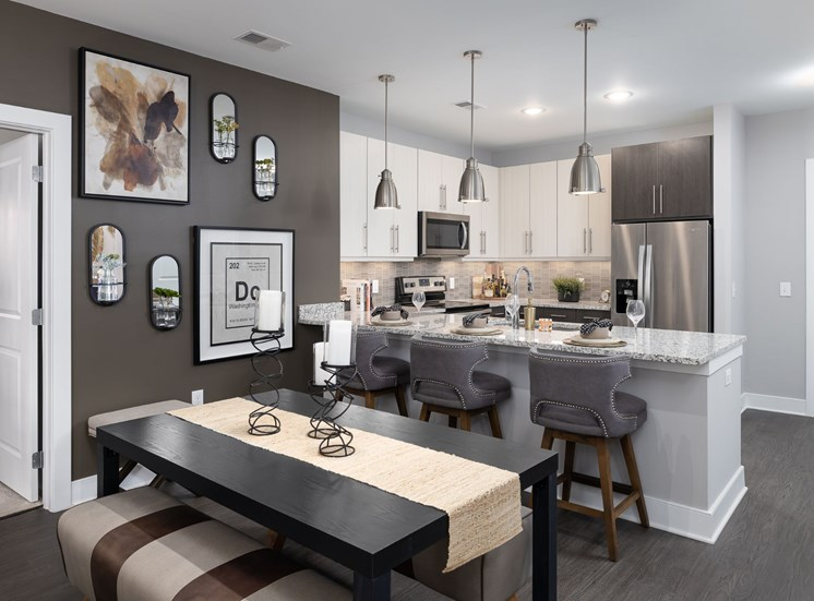 Gourmet Kitchen With Island at Cameron Square, Alexandria