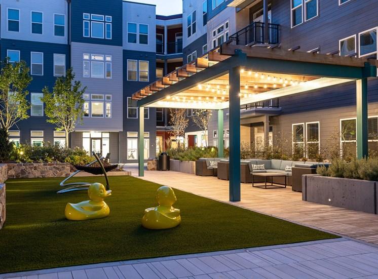 Outdoor Lounge Area at Cameron Square, Alexandria, VA, 22304