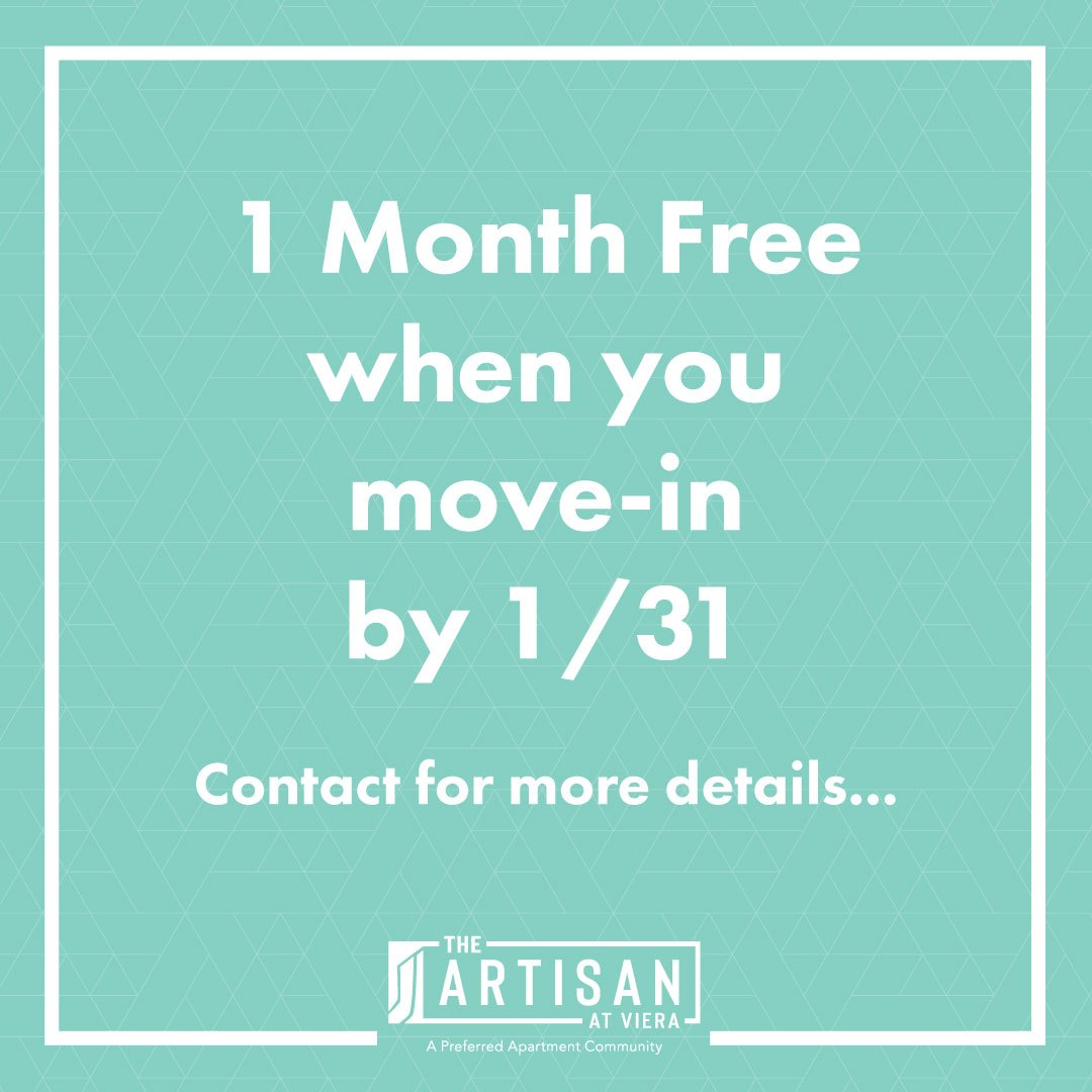 One month free when you move in by January 31st. Contact for full details!