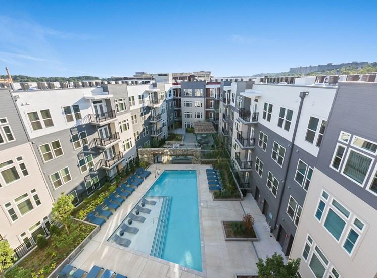 Aerial View Of Pool at Cameron Square, Alexandria, VA