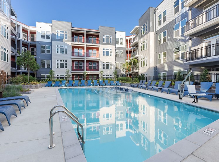 Swimming Pool And Sundeck at Cameron Square, Alexandria, Virginia
