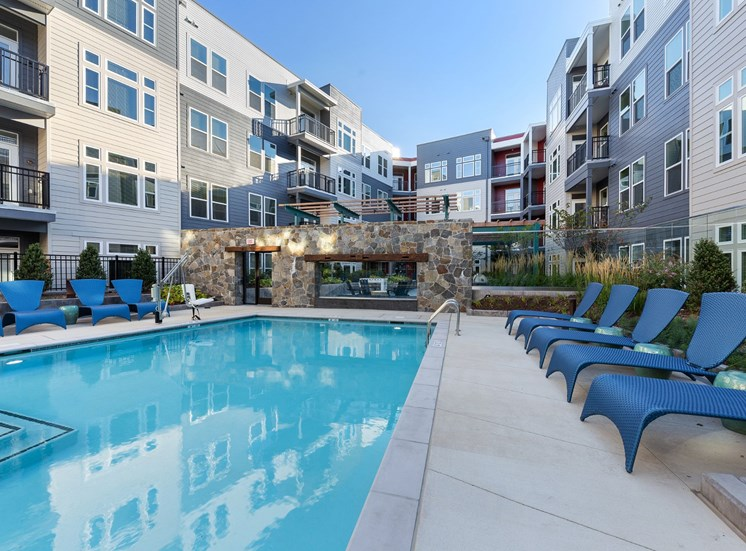Swimming Pool With Relaxing Sundecks at Cameron Square, Alexandria, 22304