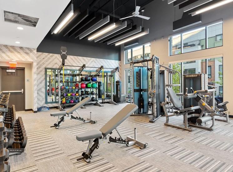 Fitness Center Strength and Conditioning Equipment at Cameron Square, Alexandria, VA, 22304