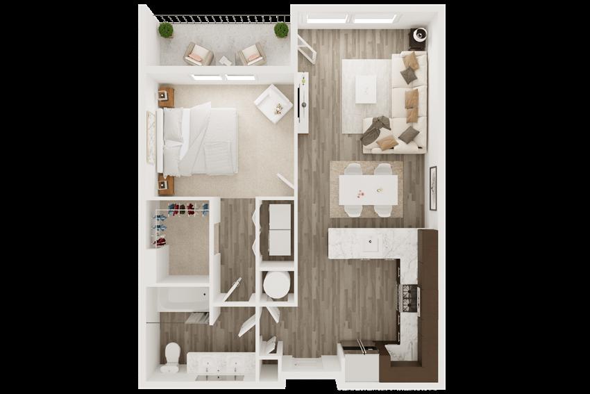 luxury apartment in overland park, ks - one bedroom, one bath