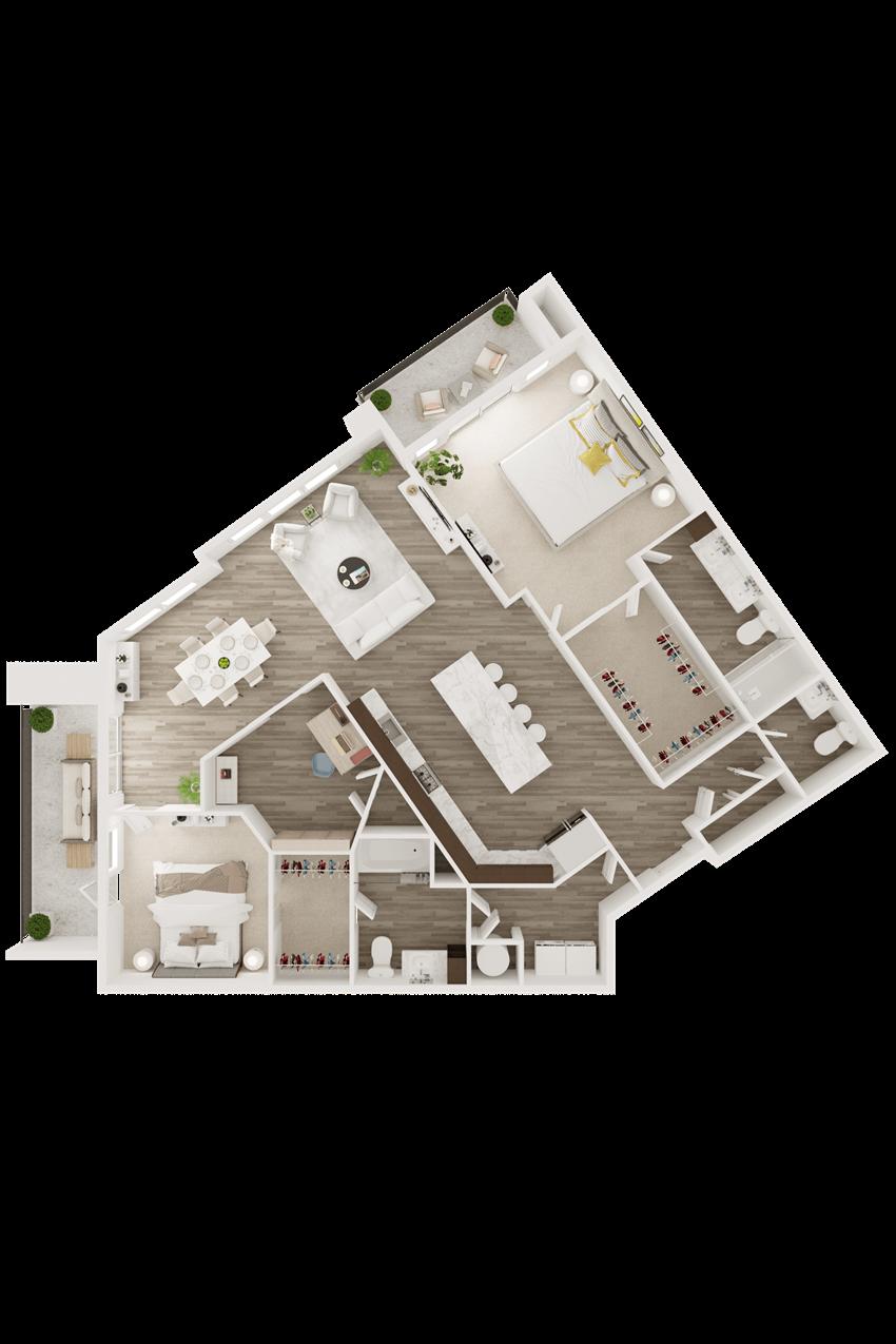 2 bedroom 2.5 bathroom luxury apartment in Overland Park, KS