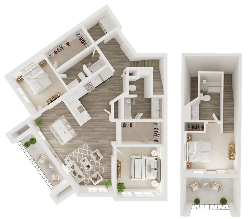 3 bedroom luxury apartment in Overland Park, KS