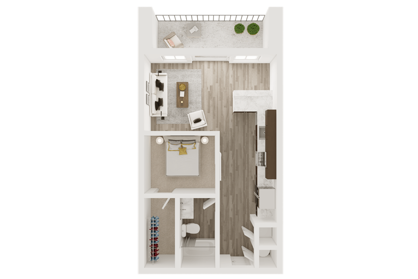 smart home studio apartment