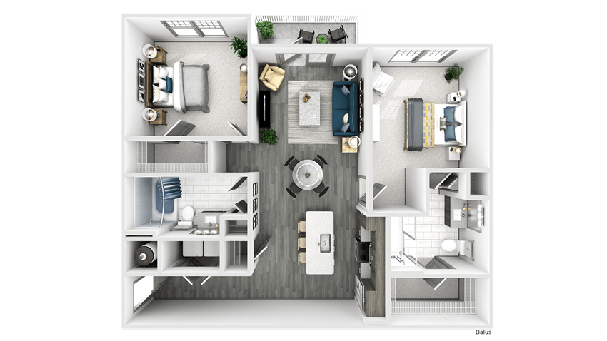 Balus Floor Plan at The Crest at Flowery Branch, Flowery Branch, GA
