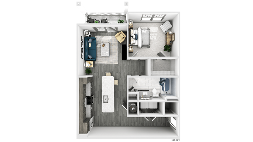 Sidney Floor Plan at The Crest at Flowery Branch, Flowery Branch