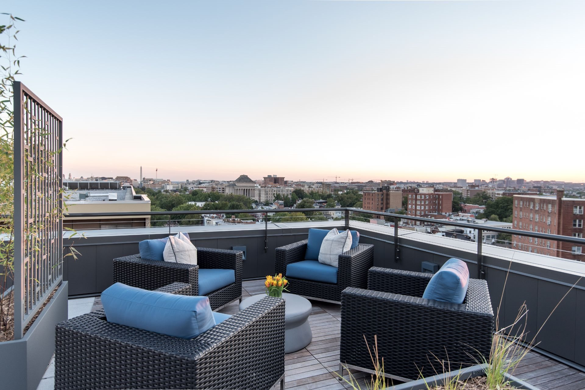 Berkshire 15 Apartments Roof Deck with Outdoor Living Room with Firepit  and DC City Views  2011 15th Street N.W. Washington, D.C. 20009, New Apartments U Street DC