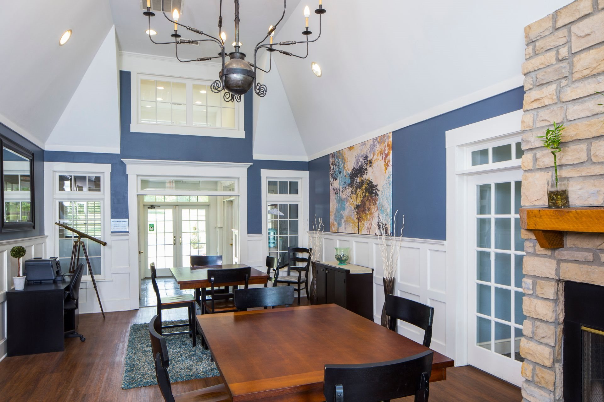The Preserve at Beckett Ridge Apartments and Townhomes with a Resident Clubhouse with Fireside Seating and Work-From-Home Space-- 2515 Fox Sedge Way, West Chester OH 45069