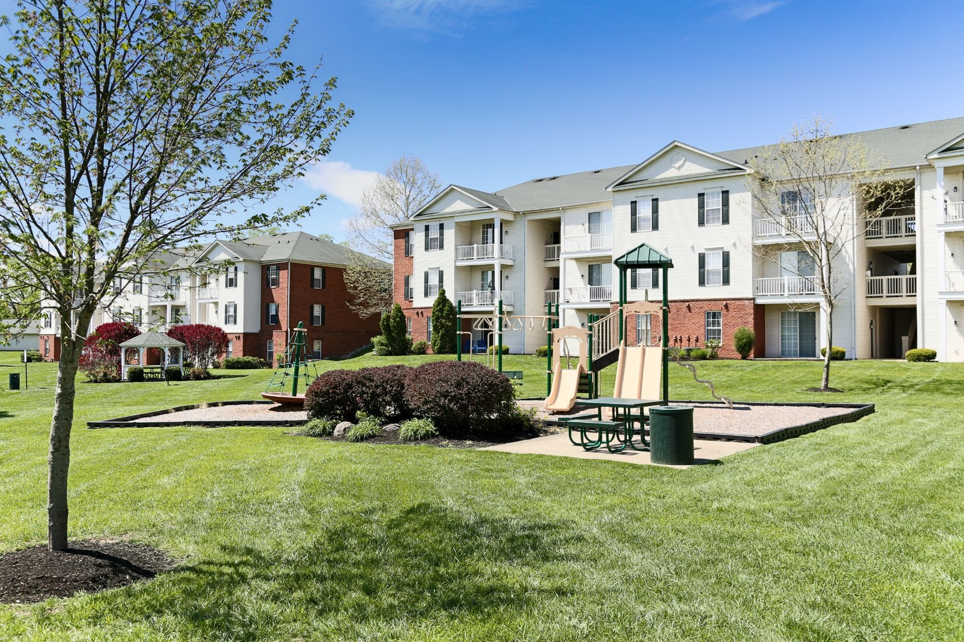 The Preserve at Beckett Ridge Apartments and Townhomes-2515 Fox Sedge Way, West Chester OH 45069--32 acre natural preserve--Healthy Living, green space and playground