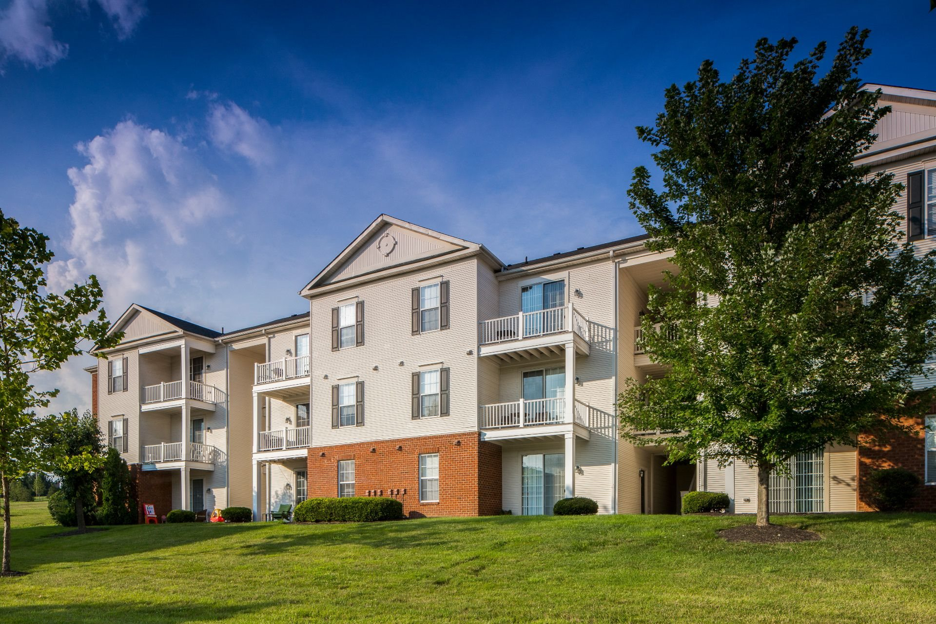 The Preserve at Beckett Ridge Apartments and Townhomes in West Chester, between Cincinnati and Dayton, -2515 Fox Sedge Way, West Chester OH 45069--32 acre natural preserve--Healthy Living and Green Space