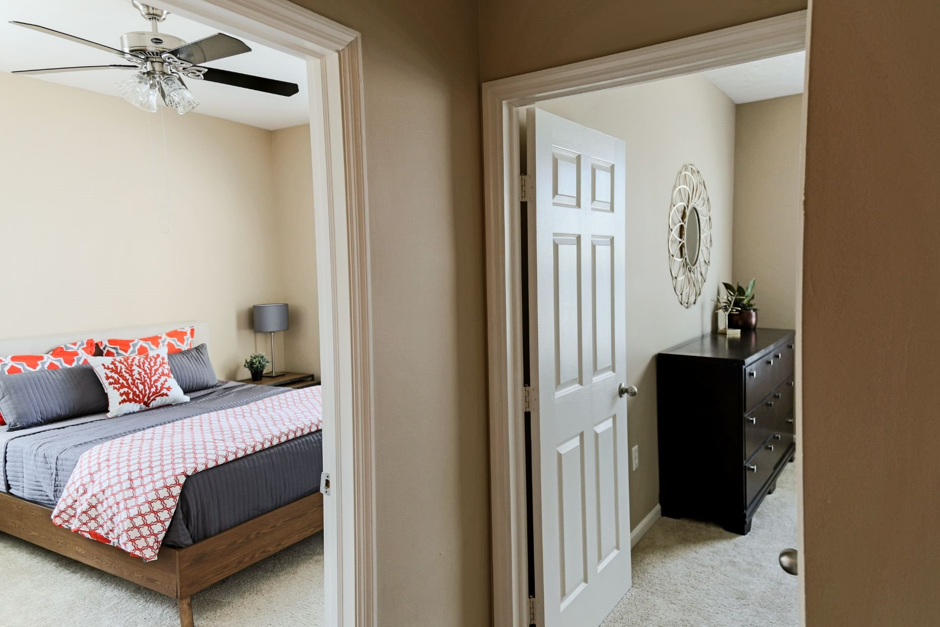 Pet Friendly 1, 2 and 3 Bedroom Apartments and Townhomes in West Chester OH with Open Concept Living, Large Bedrooms and Closets and Private Balcony or Patio--The Preserve at Beckett Ridge Apartments and Townhomes-2515 Fox Sedge Way, West Chester OH 45069