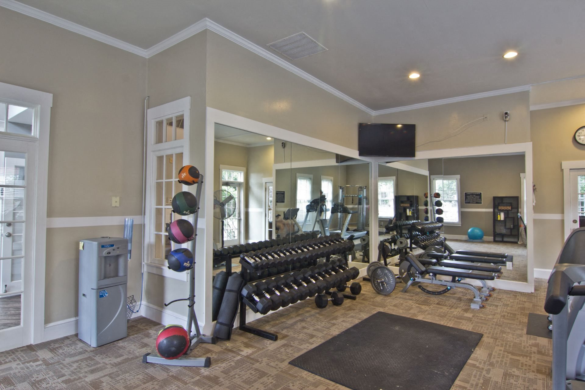 Fitness Center The Woods at Polaris Parkway 1 and 2 Bedroom  Garden Apartments and 3 Bedroom Townhomes