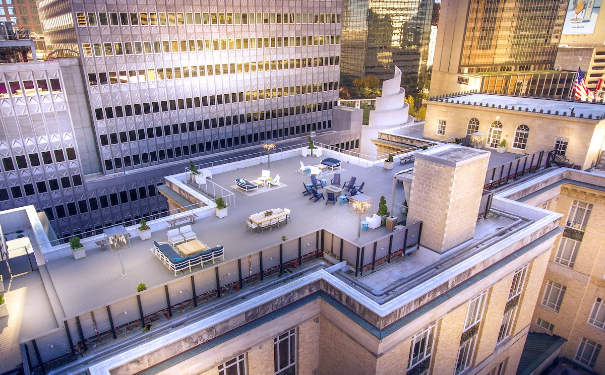 Rooftop Deck with Fire Pit at 400 North Ervay, Dallas