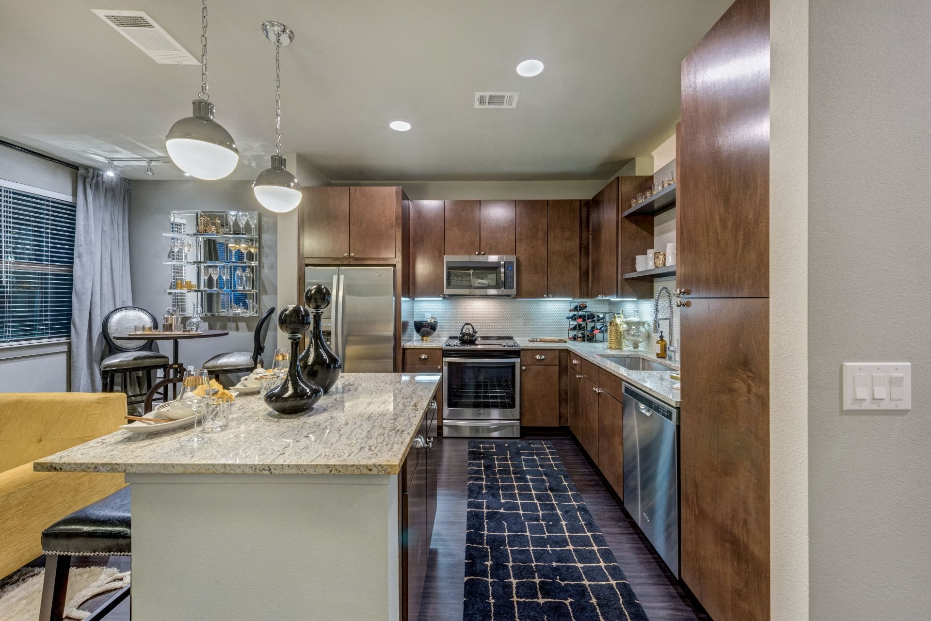Well Equipped Kitchen at Addison TX