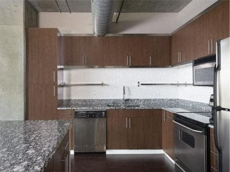 Granite Countertop Kitchen at Met Lofts, California, 90015