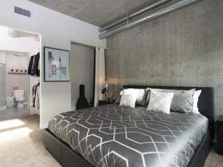 Bedroom with Private Bath at Met Lofts, Los Angeles, 90015
