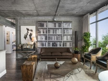 Urban Architectural Materials Such As Exposed Concrete at Met Lofts, Los Angeles, 90015