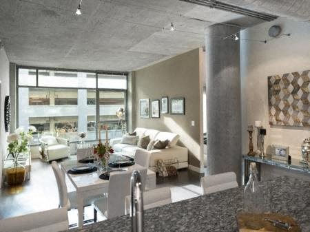 Living Room With Expansive Window at Met Lofts, California