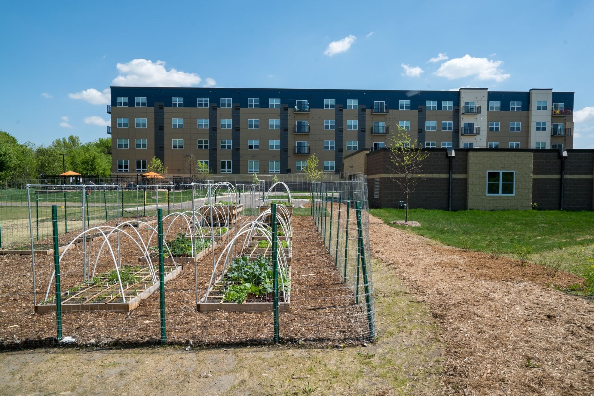 Berkshire Central Apartments with Community Garden- 9436 Ulysses Street NE  Blaine, MN.  55434