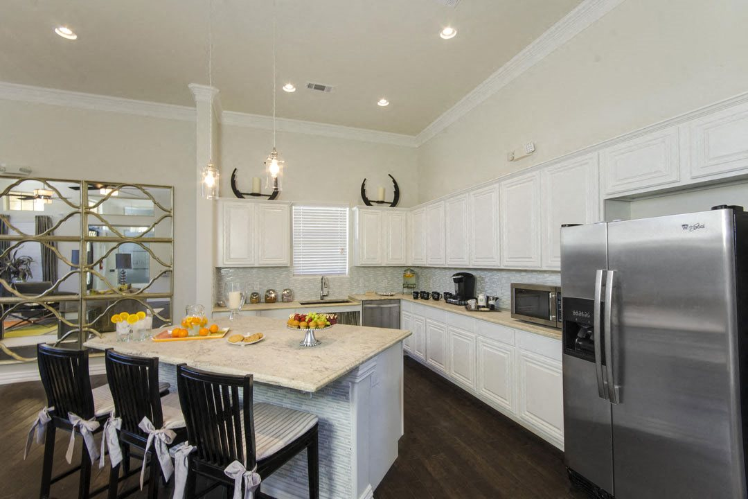 Large Island Kitchen With Custom Cabinetry at Park at Briggs Ranch, San Antonio, 78245